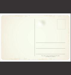 Postcard in retro vintage style vector