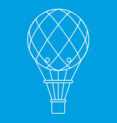 retro helium air balloon icon outline style vector image