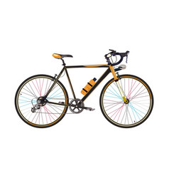 road bike in flat style vector image