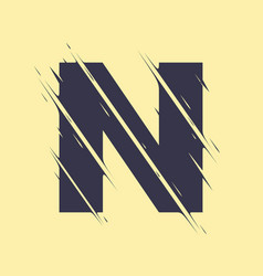 scribbled letter n vector image