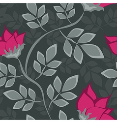 Seamless floral pattern with bright flowers vector image