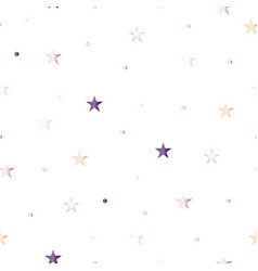 Seamless pattern with stars and polka dots in past vector