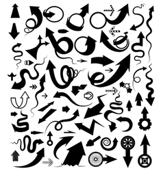 Set of arrow multi shape vector image