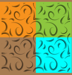 set of patterns from curls to represent natural vector image