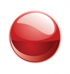 Shiny sphere 02 red vector
