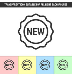 Simple outline transparent new icon or seal vector