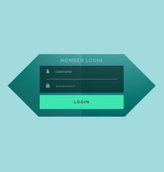 stylish member login form template design vector image