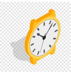 Swiss watch isometric icon vector