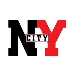 T shirt typography New York city vector image