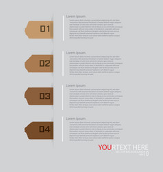 tag infographic vector image