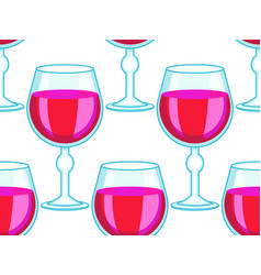 tall wineglass pattern vector image