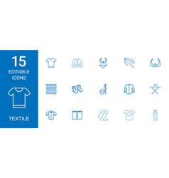 Textile icons vector