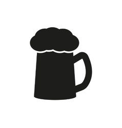 The glass of beer icon Pub and kvass alcohol vector image