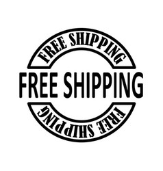 Thin line free shiping icon vector