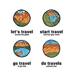 traveling logo set vector image