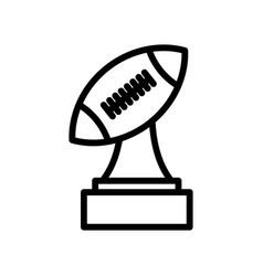 Trophy american football line icon simple design vector