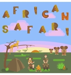 African safari concept vector image vector image