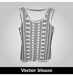 Beautiful top shirt summer blous vector image vector image