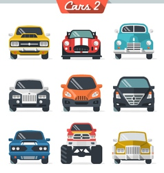 Car icon set 2 vector image vector image