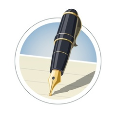 Ink pen vector image vector image