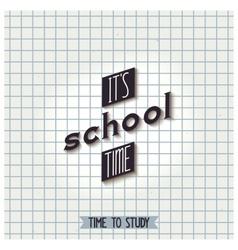 Its school time vector