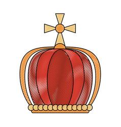 queen crown with cross vector image