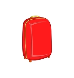 Red travel suitcase icon cartoon style vector image vector image