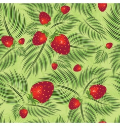 semless pattern with strawberry vector image