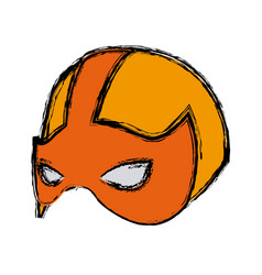 super hero mask for face character in flat style vector image