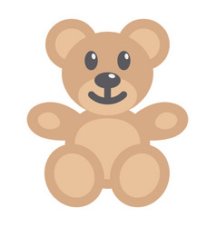 teddy bear flat icon plush toy and baby vector image