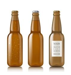 Templates realistic transparent bottles vector image