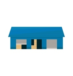 Blue Storehouse Building vector image vector image