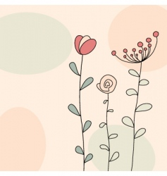 floral greeting vector image