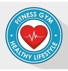 sport fitness healthy life design isolated vector image