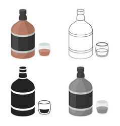 whiskey icon in cartoon style isolated on white vector image vector image
