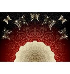 black-red elegance frame vector image