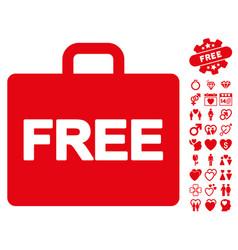 free accounting icon with valentine bonus vector image vector image