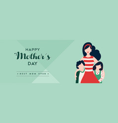 mothers day banner for happy family holiday vector image