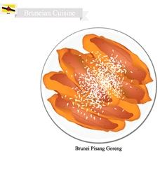 Pisang Goreng or Fried Banana vector image