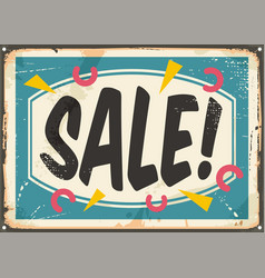 sale sign template vector image