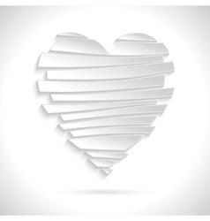 White Broken Heart vector image