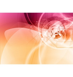 background abstract purple and orange wave and vector image