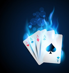 blue casino card vector image