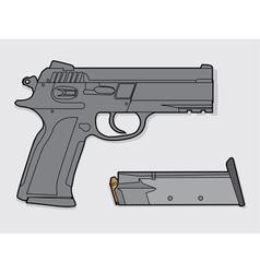Gun and magazine vector image