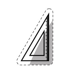 school ruler triangle thin line vector image vector image