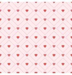 Seamless retro pattern hearts eps 10 vector image