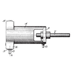 appliance lathe vintage vector image