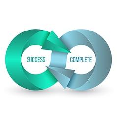 Arrow infinity business logo design template vector image