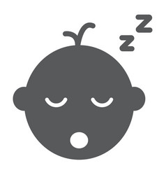 Baby boy sleep glyph icon child and sleep vector