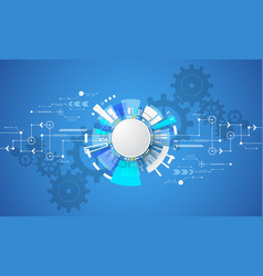 Background in the concept of technology vector